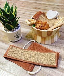 Bộ dụng cụ tắm bằng gỗ