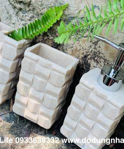 chai lọ đựng xà phòng đá nhân tạo