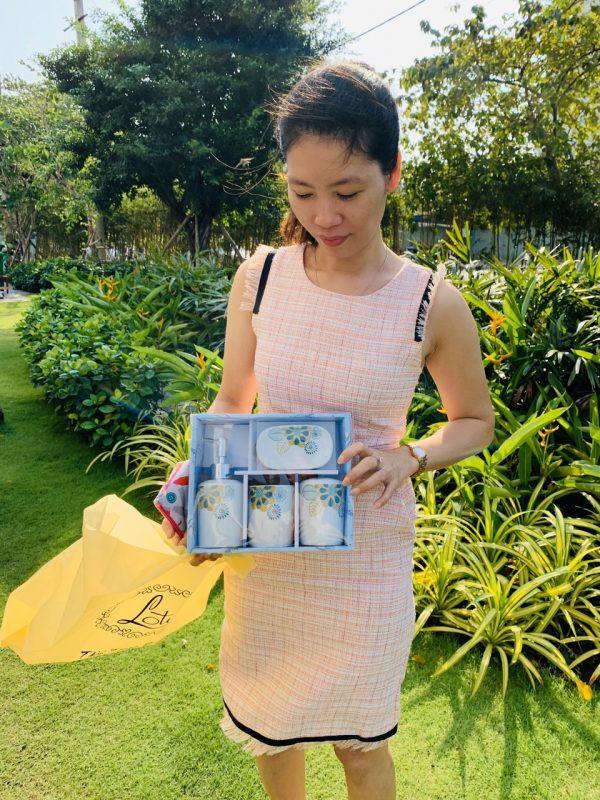 Bộ chai lọ sứ nhà tắm tạ i TPHCM- Green Life