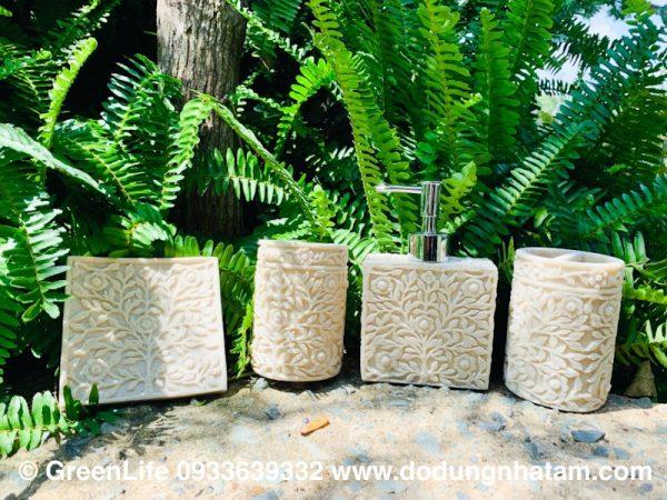 Phụ kiện nhà tắm đựng xà phòng bằng đá nhân tạo Green Life