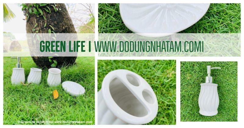 Bộ chai lọ bằng sứ TPHCM- Green Life