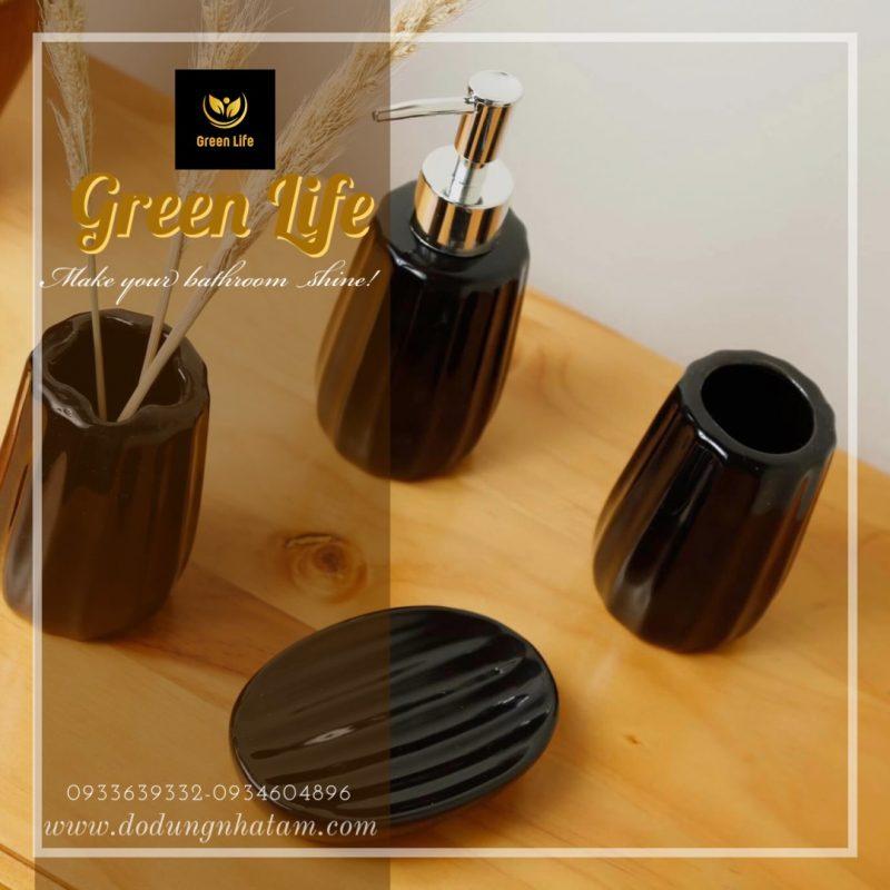 Bộ chai lọ bằng sứ TPHCM - Green Life