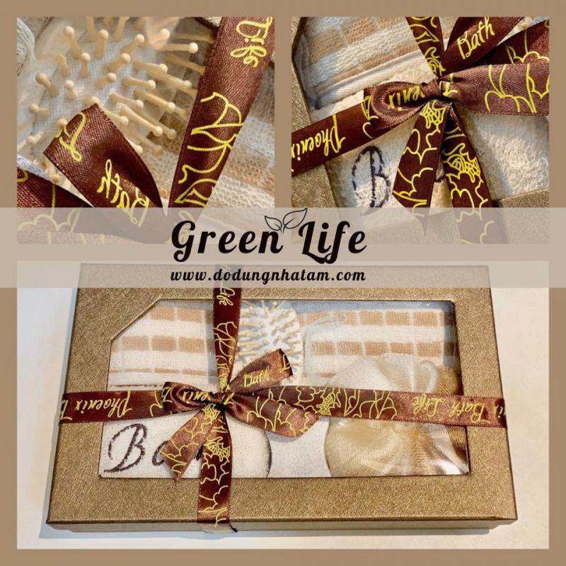 Bộ dụng cụ tắm 20-10 cho nữ - Green Life